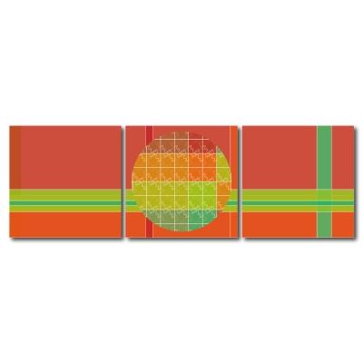 123點點貼- 三聯式無痕創意壁貼 -線彩無限30*30cm