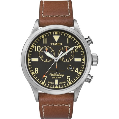 TIMEX x RED WING 限量聯名Waterbury系列雙眼計時手錶/42mm