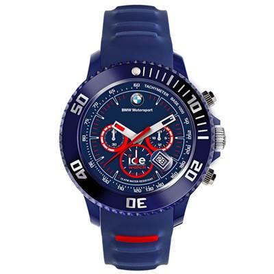 Ice-Watch BMW運動系列 摩登潮流計時手錶-藍x紅圈/48mm