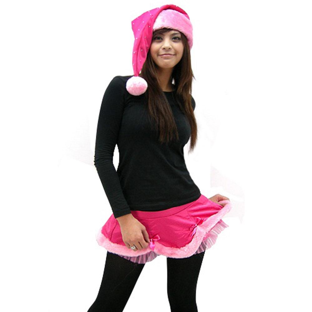 維多利亞的秘密 桃紅色蝴蝶結蕾絲短裙【S】