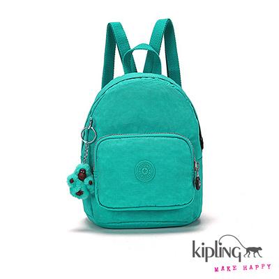 Kipling-後背包-Mini春漾亮彩藍綠素面
