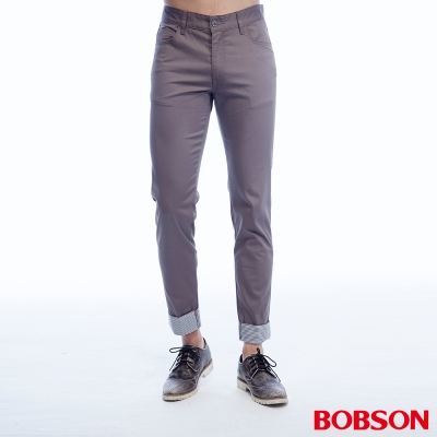 BOBSON 男款褲口反褶九分褲