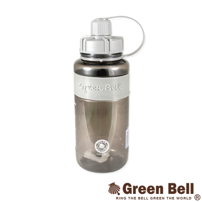 GREEN BELL綠貝超止滑彈跳吸管太空水壺V代1000ml(灰)