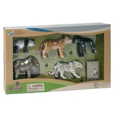 Wenno動物模型 動物系列 保育類動物5入 WES06002
