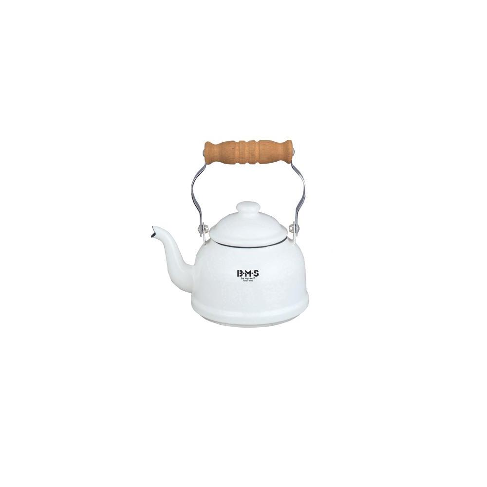 富士琺瑯FUJIHORO-白色迷你琺瑯茶壺 / BM-0.9K.W