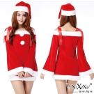 角色扮演 聖誕甜心兩件式綁帶露肩角色服 聖誕紅 XOXOXO