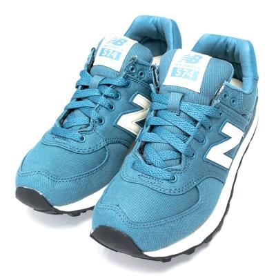 New Balance 574 女復古慢跑鞋 WL574MDC-B 藍綠