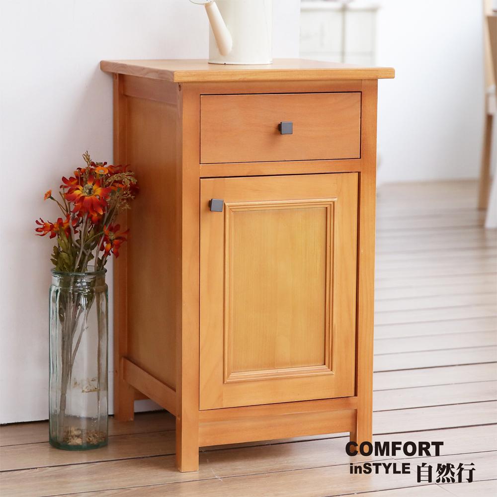CiS自然行實木家具 收納櫃-原木茶几邊櫃-矮櫃(柚木色)