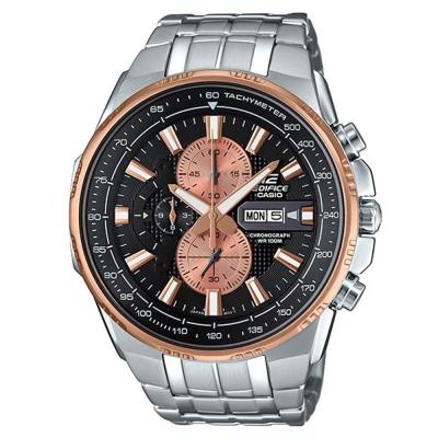 EDIFICE魅力風格簡約俐落科技感計時賽車錶(EFR-549D-1B9)紳士銅50.3mm