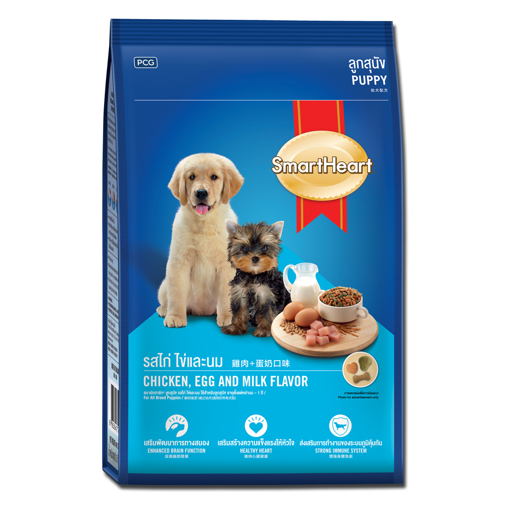 SmartHeart 慧心犬糧 - 雞肉+蛋奶口味幼犬配方 3kg