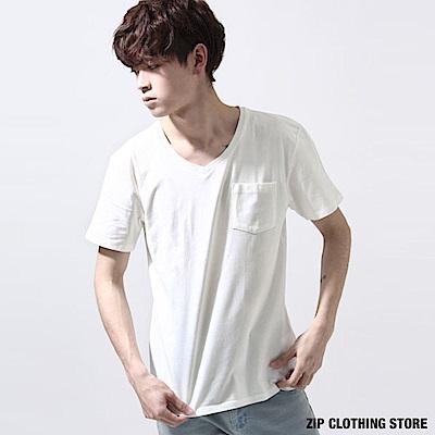 美國棉短袖素T(2色) ZIP日本男裝