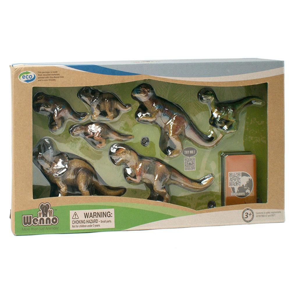 Wenno動物模型恐龍系列實際存在過恐龍7入WED06002