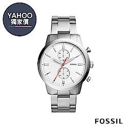 FOSSIL TOWNS 入門款百搭計時男錶-44mm