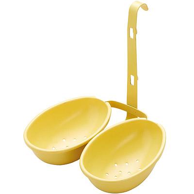 KitchenCraft 雙份掛式不沾煮蛋器(黃)
