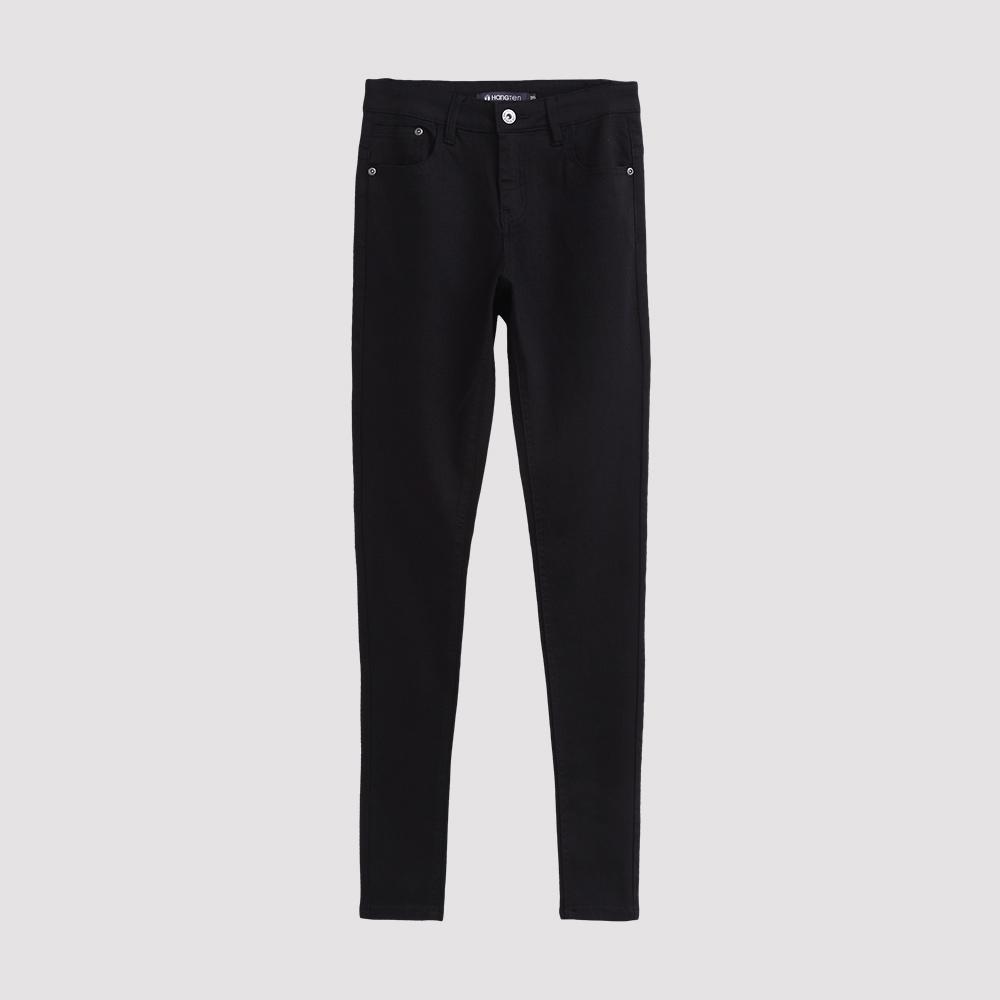 Hang Ten - 女裝 - 彈性修身美型窄管褲-黑