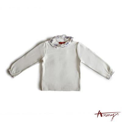 素面荷葉袖口長袖上衣*3440紫