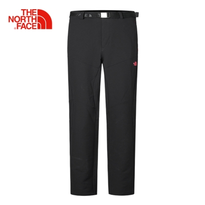 The North Face北面男款黑色舒適防潑水戶外休閒長褲