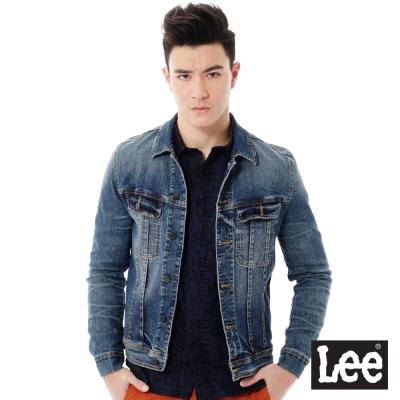 Lee 牛仔刷色外套/VL-男款-藍色