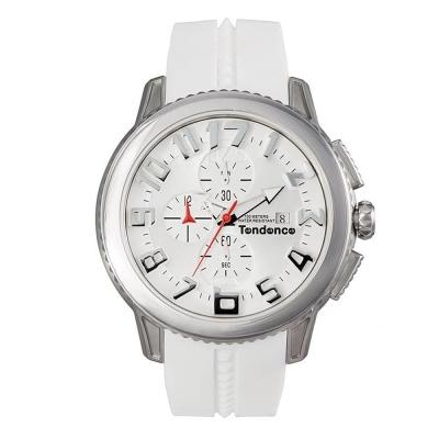 Tendence 天勢錶-圓形系列計時碼表款-白銀/45mm