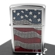 ZIPPO 美系~Diamond Plate Flag-花板美國國旗貼飾打火機 product thumbnail 1