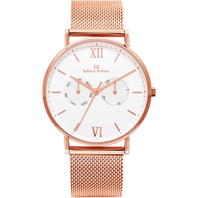 Max Max 三秒翻轉你的時尚腕錶禮盒-MAS7018-2/39mm
