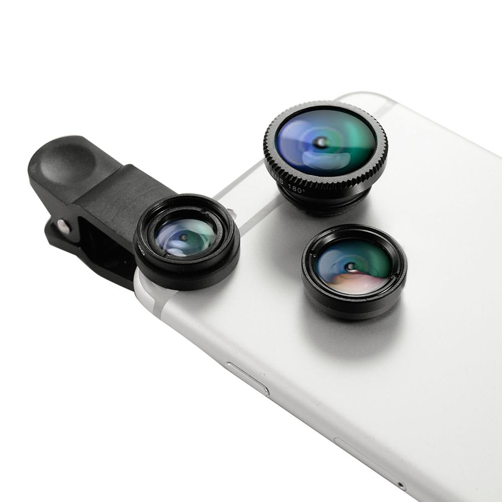 Metal-Slim 光學鏡片 微距/廣角/魚眼 三合一手機鏡頭組
