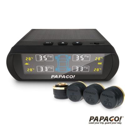 PAPAGO ! TireSafe S60E無線太陽能胎外式胎壓偵測器-胎外式