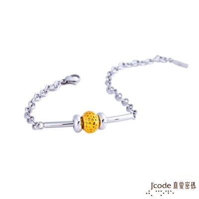 J'code真愛密碼 幸福情網黃金/純銀/白鋼手鍊