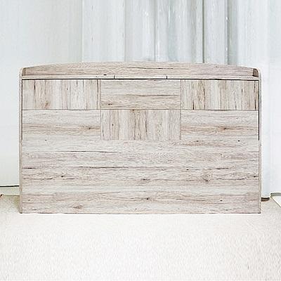 AS-法蘭西斯6尺浮雕木紋床頭片-184x15x98cm