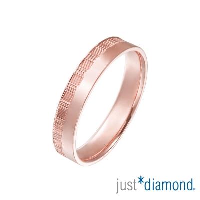 Just Diamond 18K玫瑰金戒指(4mm)-市松