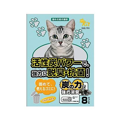 3包組 QQ KIT活性炭環保紙貓砂8L