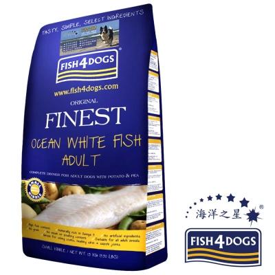 海洋之星FISH4DOGS 海水白身魚無麩質低敏配方12kg、中大型成犬、原顆粒