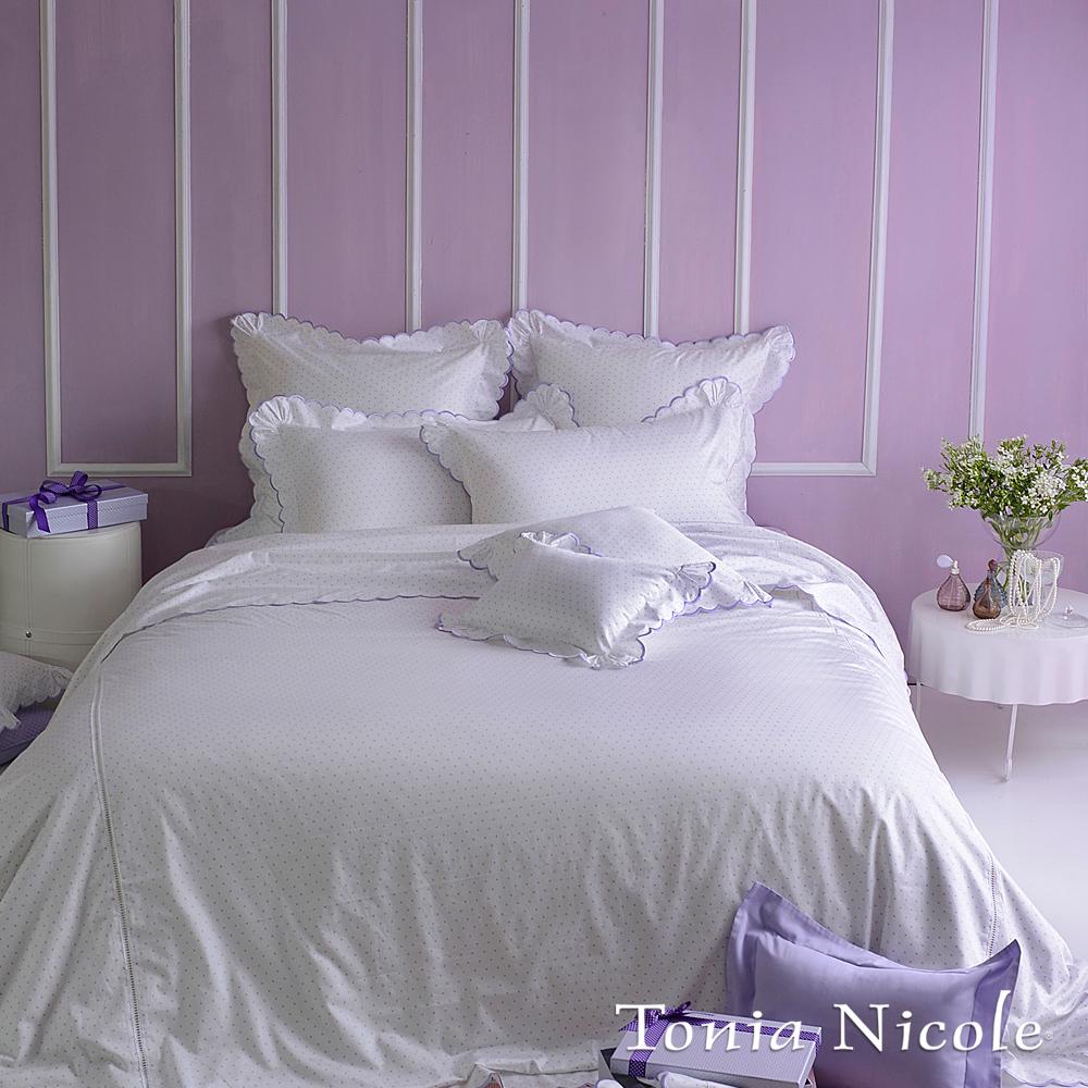 東妮寢飾☆菈朵芮依(薰衣紫)☆美國高紗支精梳細綿被套床包組(雙人)