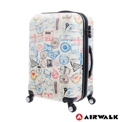 AIRWALK LUGGAGE - 精彩歷程 環郵世界行李箱24吋 - 各地米白