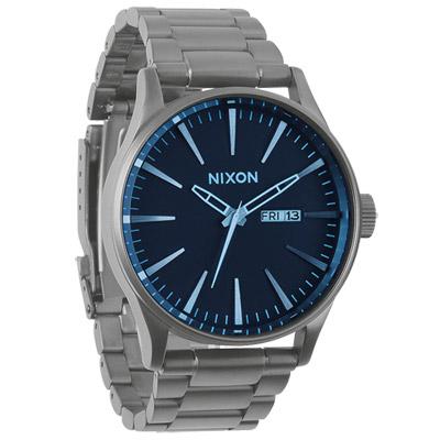 NIXON The SENTRY SS 復刻潮流都會休閒腕錶-灰藍/42mm