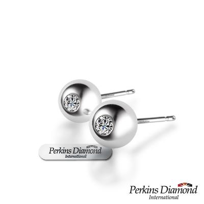 PERKINS 伯金仕 - Anne系列 18K金 0.10克拉鑽石耳環