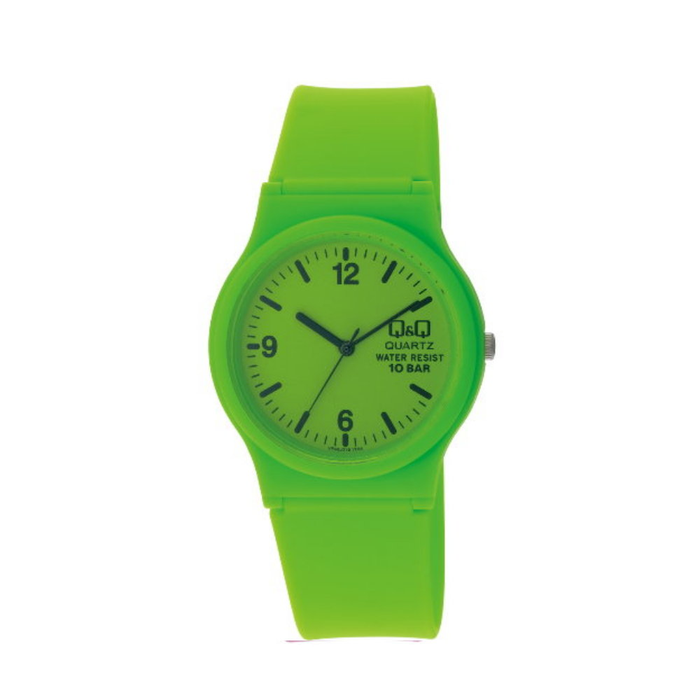 Q&Q 日系個性混搭甜蜜糖果潮流錶-綠/35mm
