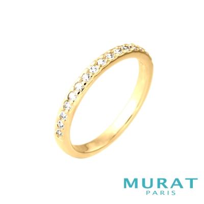 MURAT Paris米哈巴黎 閃耀滿鑽戒指(金色款)