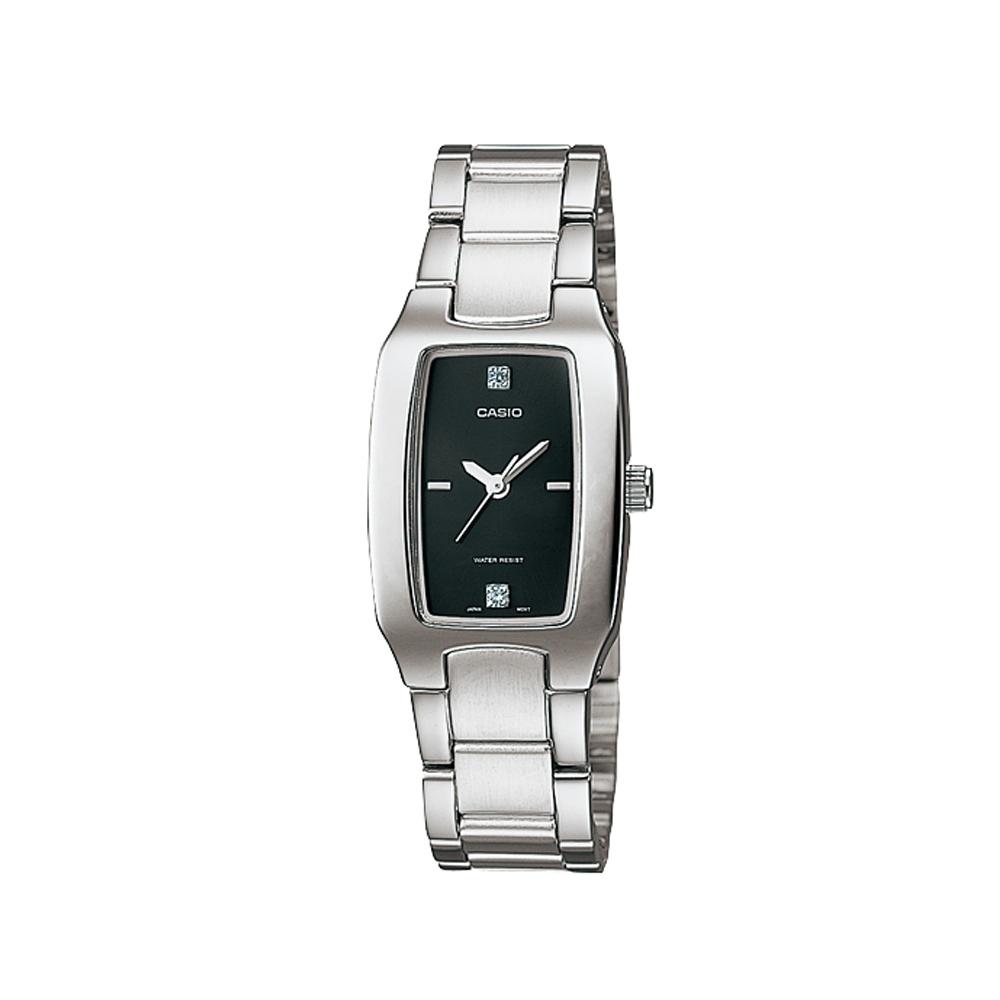 CASIO 酒桶造型指針女錶(LTP-1165A-1C2)-黑/21mm