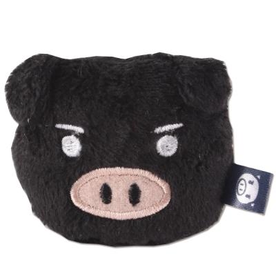 UNIQUE 可愛豬造型磁鐵。黑色