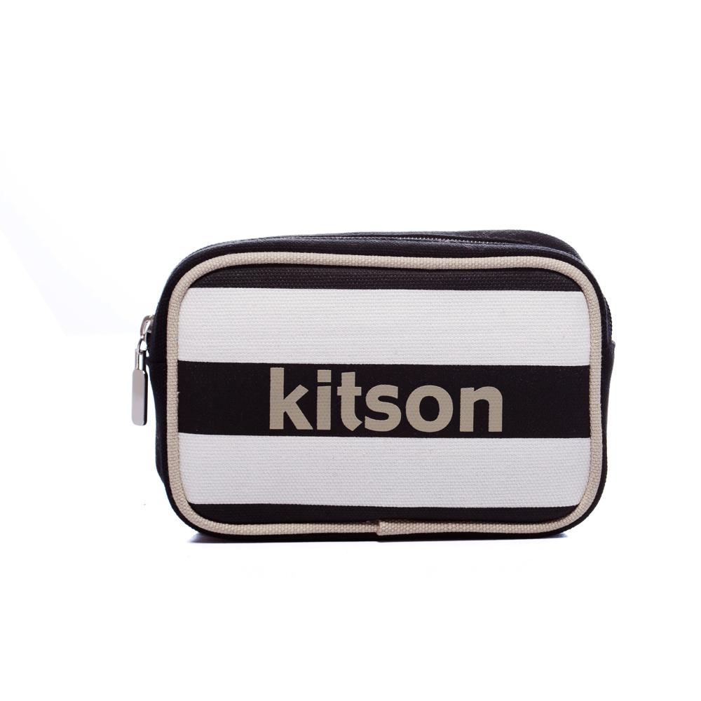 kitson 海軍橫條化妝包-BLACK