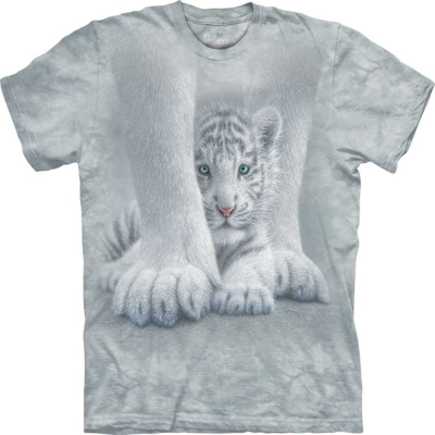 摩達客 美國進口The Mountain保護小虎 純棉短袖T恤