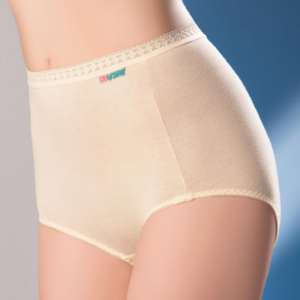 【思薇爾】柔感棉系列高腰夜用生理褲(柔粉黃)