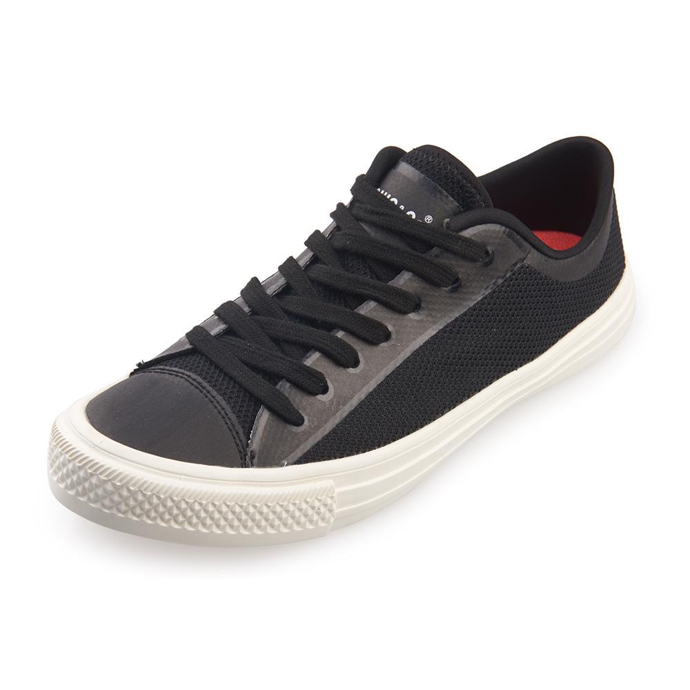 (男/女)Ponic&Co美國加州環保防水綁帶休閒鞋*黑色
