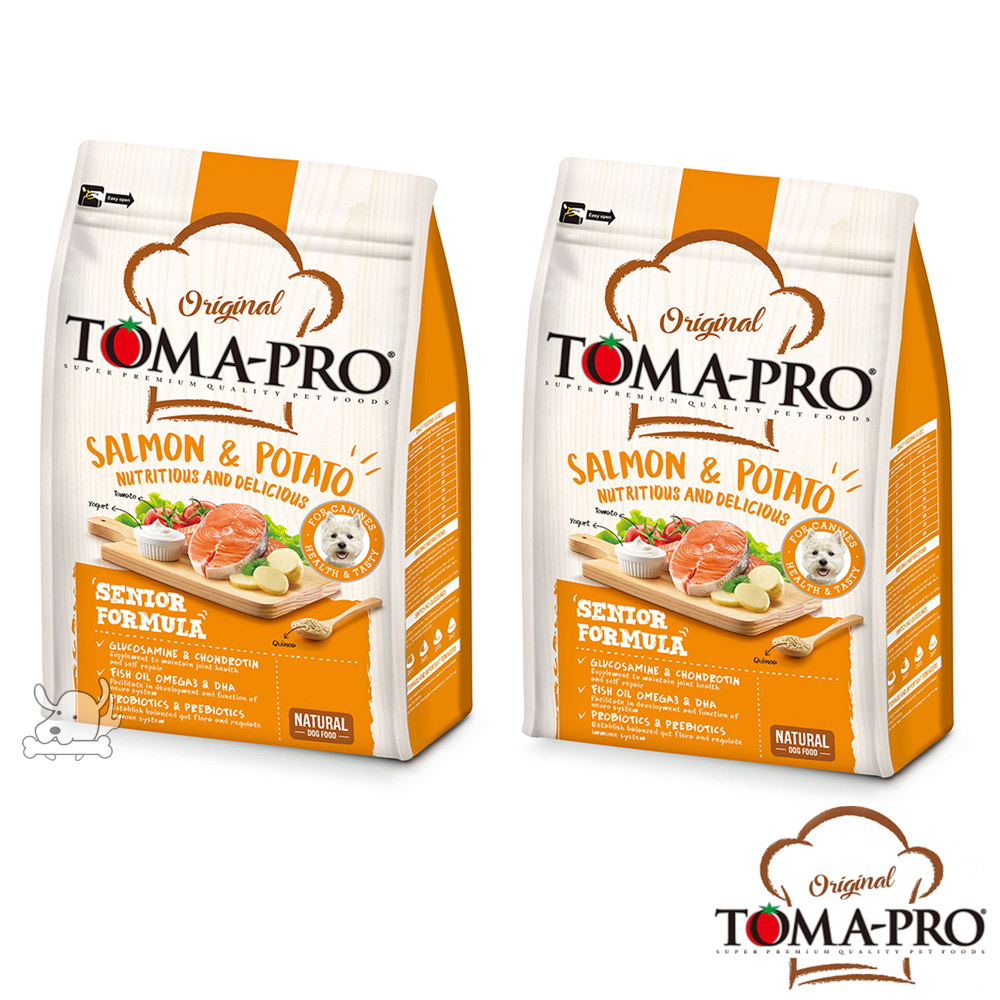 TOMA PRO 優格 熟齡養生 鮭魚馬鈴薯 高齡犬 飼料 1.5公斤 2包