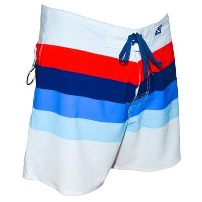 WAXX 多色橫條紋白色高質感吸濕排汗男性海灘褲