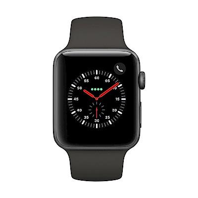 Apple Watch Series 3 行動網路,42mm太空灰鋁金屬錶殼/灰色運動錶帶