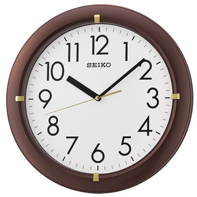 SEIKO 日本精工 滑動式秒針 靜音掛鐘(QXA716B)-咖啡/32.8cm