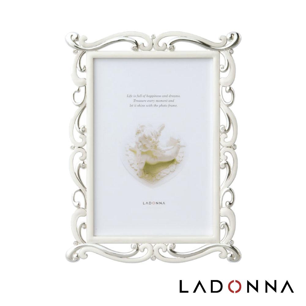 日本 LADONNA Bridal 幸福花嫁 曲線花邊4X6相框 MJ82-P-WH