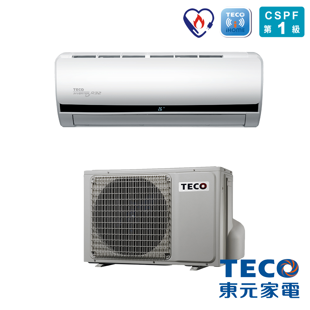 TECO東元 R32變頻一對一冷暖空調4-6坪(MS28IE-HS/MA28IH-HS)